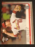 B13 2019 Topps Chrome Update Series ROOKIE Card RC Ryan Helsley Cardinals #25