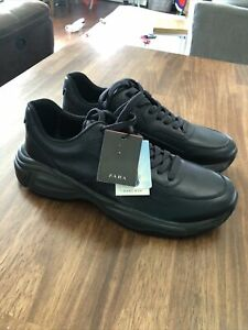 Zara Man Cool Max Mens Sneakers/Shoes Size US 9 Leather Navy Blue NWOB