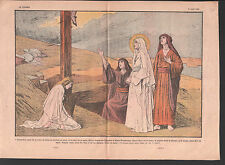 ALLÉGORIE PIED DE LA CROIX DE JESUS MARIE MARIE MADELEINE ILLUSTRATION 1936