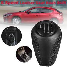 6 Speed Gear Shift Knob For MAZDA 3 BK BL 5 CR CW 6 II GH CX-7 ER MX-5 NC III