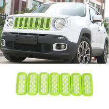 Honeycomb Front Mesh Grille Insert Trim Frame fit for Jeep Renegade 2015-2018