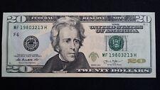 UNITED STATES $20 Dollars 2013 Rios/Lew F6 Prefix MF USA US UNC banknote