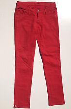 EUC - AS NEW -RRP $399 - Womens Stunning Tsubi 'SUPER SKINNY' Smash Cherry Jeans