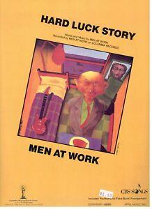 "MEN AT WORK ""HARD LUCK STORY"" SHEET MUSIC-PIANO/VOCAL/GUITAR/CHORDS-1985-NEW!!"