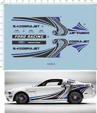 1/24 1/25 REVELL GT500 TG500KR cobra jet ford racing Model Kit Water Slide Decal
