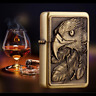 Eagle Flip Top Lighter Oil Kerosene Fluid Refillable Windproof Cigarette Lighter