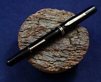Eversharp Doric Fountain Pen - Black - User Grade - 14k M Nib w/ Flex - Restored