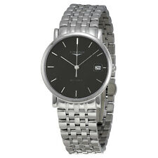 Longines Elegant Collection Auto Sunray Gray Dial Stainless Steel Ladies Watch