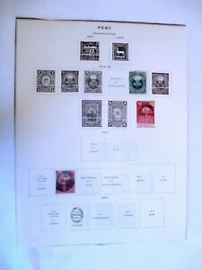 PERU STAMPS  1874-1900 used Hinged