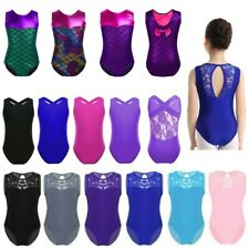 Girls Ballet Gymnastics Leotards Mermaid Printed Bodysuit Performance Dancewear