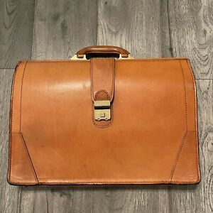VINTAGE STEBCO Genuine Top Grain Leather Briefcase Doctor Lawyer Combination
