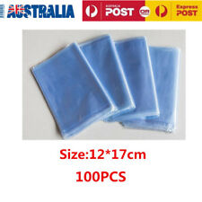 100X PVC Heat Shrink Wrap Film Clear Flat Bag Soap Candles Packing Pouch 12*17cm