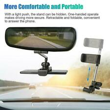Universal 360° Car Rear View Mirror Mount Holder Stand Cradle For Cell Phone GPS