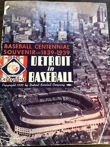 MLB BASEBALL DETROIT TIGERS SOUVENIR PROGRAM 1939 VERY GOOD CONDITION