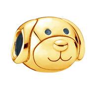 New Genuine Pandora Cute Dog Charm 18K Gold Plated 791707