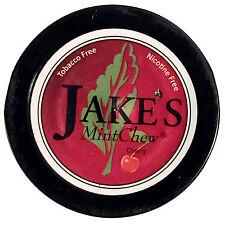 Jakes Mint Chew Cherry Mountain Tobacco & Nicotine Free Dip 1 can Not Smokey