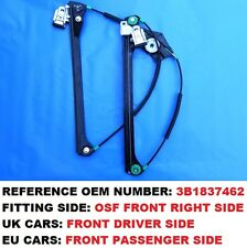 96-05 PASSAT B5 OSF FRONT RIGHT UK DRIVER WINDOW REGULATOR