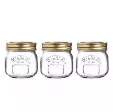 Set di 3 Kilner 0.25 litro A Vite Superiore Barattoli Per Conserve