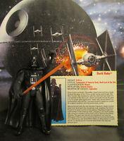 1995  Kenner Star Wars POTF 2 Darth Vader Long Saber Loose & Complete Figure