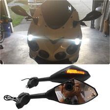 Motorcycle LED Turn Signals Rearview Mirrors For Kawasaki Ninja ZX14 ZX9R 7R 6R