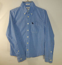 Abercrombie and Fitch A&F Boys Oxford Dress Shirt Kids Muscle Fit YOUTH SMALL S