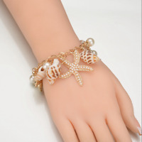 Starfish Conch Shell Charm Multi-element Bracelet For Women Summer Beach Jewelry