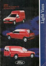 Ford Fiesta Van Courier & Escort Van 1994-95 UK Market Sales Brochure