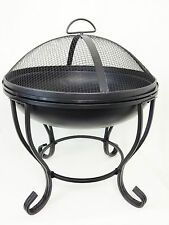 BBQ charocoal woodfire place 4 legs with lid brazier fire pit fire bowl c