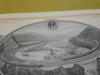 [70131] 1964 THE PENNSYLVANIA RAILROAD CO. STOCK CERTIFICATE Horseshoe curve