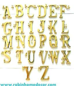 76MM (3Inch) Alphabet A to Z Brass Letter Design Door House Address with Screws