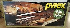 """Vintage Pyrex Bake a Round Glass Bread Baking Tube #990 14"""" French Loaf Mold NEW"""