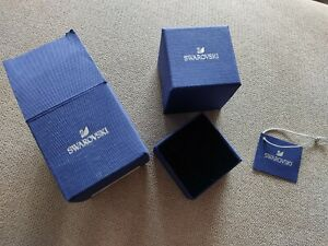 Swarovski Schatulle Ringbox Ringschatulle leere Box Verpackung Ring
