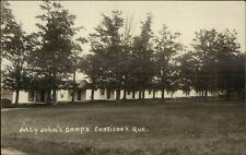 Coaticook Quebec Jolly John's Camps Real Photo Postcard c1920s-30s