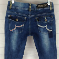 Premiere Rue 21 Embellished Sharp Cone Studded Women's 7/8 Skinny Low Rise Jeans