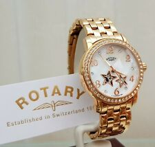 ROTARY Ladies Automatic Skeleton Watch Rose Gold plated Boxed RRP£180 VGC