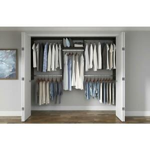 Wood Closet System Adjustable Shelves Cut-to-Fit Wall Laminate Espresso Brown