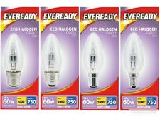 4 x 46w Halogen Clear Candle Light Bulbs BC ES SBC SES Push/Screw In 60w