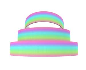 Grosgrain Rainbow Ombre Pink Green Purple Blue Ribbon 11mm 22mm 25mm 38mm
