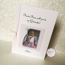 Will you be My Godmother / Godfather / Godparent Photo Card Personalised