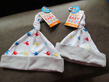 NWT Boy's Giggle Baby Grey,White Soft Helicopter Design 2 Hats size Large/Small