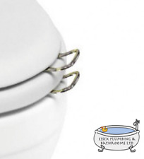 BURLINGTON SET OF 2 CHROME TRADITIONAL TOILET SEAT HANDLES ONLY - A51CHR