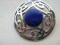 Large Vintage  Past Times Sterling Silver  Lapis Lazuli Celtic Knot  Brooch