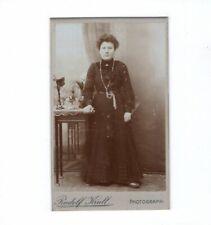 Rudolf Krull CDV foto dama elegante - 1900er