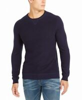 INC Mens Sweater Navy Blue Size Small S Crewneck Pullover Solid Knit $65 #450
