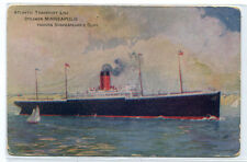 Steamer Minneapolis Passing Shakespeare's Cliff Atlantic Transport Line postcard