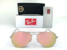 Ray-Ban Aviator Classic RB3025 019/Z2 Sunglasses 58mm Silver Frame Pink Mirror