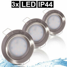3er Set LED Decken Einbau Strahler ALU Leuchten Bad Feucht-Raum Spot Lampen rund