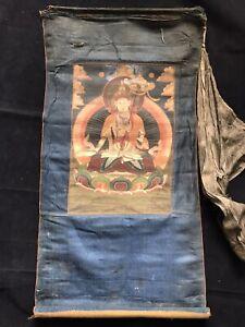 Mongolian Buddhist  Tsakli Thangka  painting  Mongolia 23x34