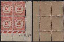 Timbres coin daté taxe N° 58 neuf avec  trace de charnière 24.8.28