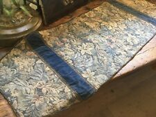 Antique Table Runner~Dresser Scarf Tapestry Velvet with French Metal Thread Trim